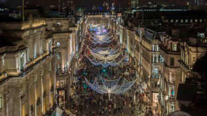 Le luci di Natale a Londra