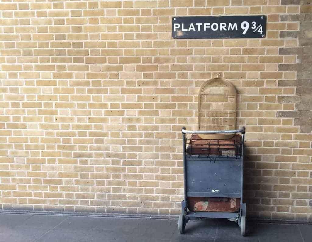 binario 9 3/4 harry potter a Londra