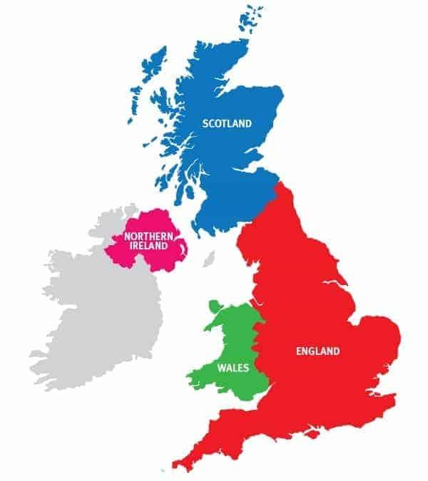 Cartina Geografica Gran Bretagna E Irlanda.Regno Unito Gran Bretagna O Inghilterra Le Differenze
