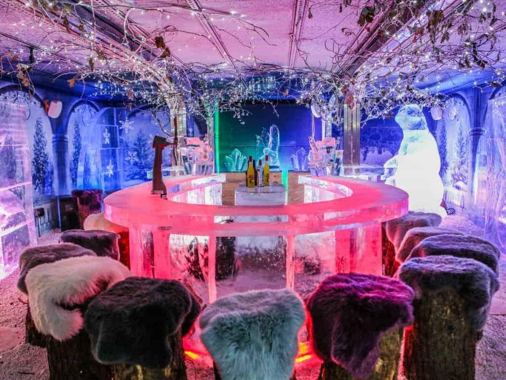 ice bar winter wonderland