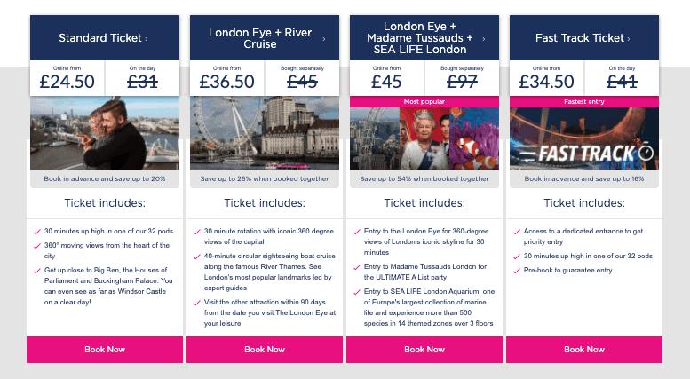 biglietti london eye