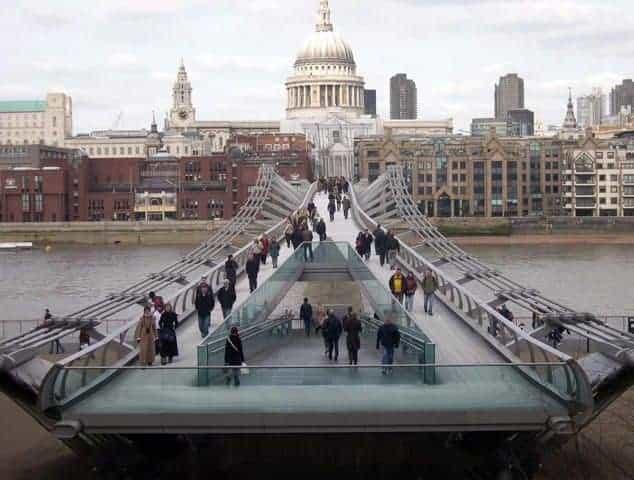 millenium bridge a londra